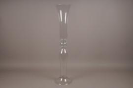 A067K9 Vase sablier en verre D22cm H100cm