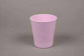 A067PP Cache-pot en céramique rose D13cm H14cm