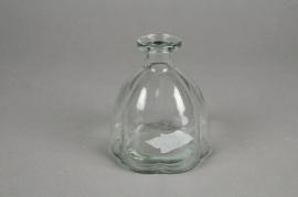 A067R4 Glass bottle vase D10cm H11cm