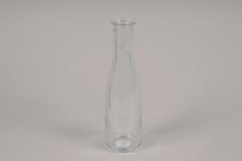 A068R4 Vase en verre bouteille D5.5cm H19cm