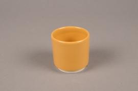 A068T3 Yellow ceramic planter pot  D7cm H7cm