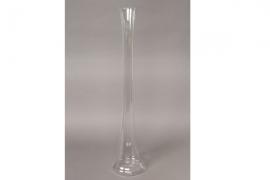 A069PS Vase en verre église D12cm H60cm