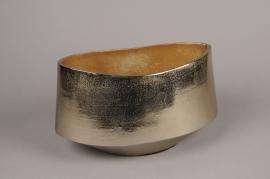 A070BV Gold brushed metal bowl 28x16cm H16cm