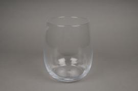 A070I0 Vase en verre arrondi D16cm H22cm
