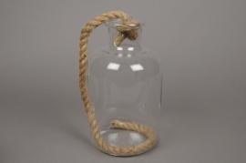 A070PM Vase bouteille en verre D14cm H25cm