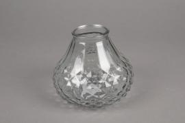 A070R4 Glass vase D13cm H11cm