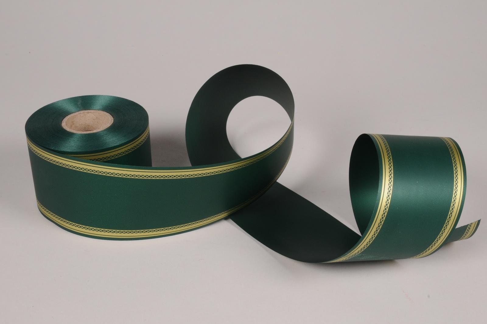 A070RB Ruban deuil vert 75mm x 50m