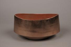 A071BV Copper brushed metal bowl 26x13cm H15cm