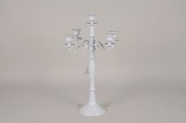 A071E6 Chandelier en aluminium 5 branches blanc H50cm