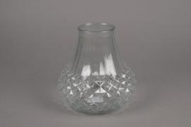 A071R4 Glass vase D13cm H11cm