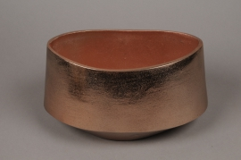 A072BV Copper brushed metal bowl 28x16cm H16cm