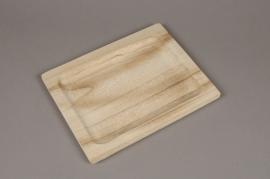 A072HX Wooden tray 28x22cm
