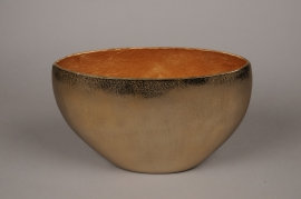 A073BV Vase en métal or 36x14cm H24cm