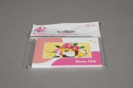 """A073MQ Paquet de 15 cartes """"Bonne fête"""""""