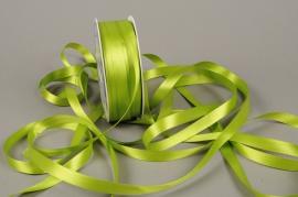 A073UN Satin ribbon apple green 12mm x 100m