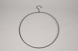 a073wg Cercle en métal noir avec crochet D38cm