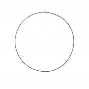 A074DQ Cercle en métal noir plat 148 led D78cm