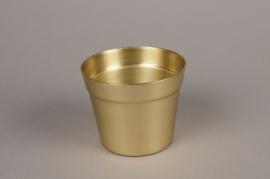 A074E6 Cache-pot en alu or D13cm H10.5cm
