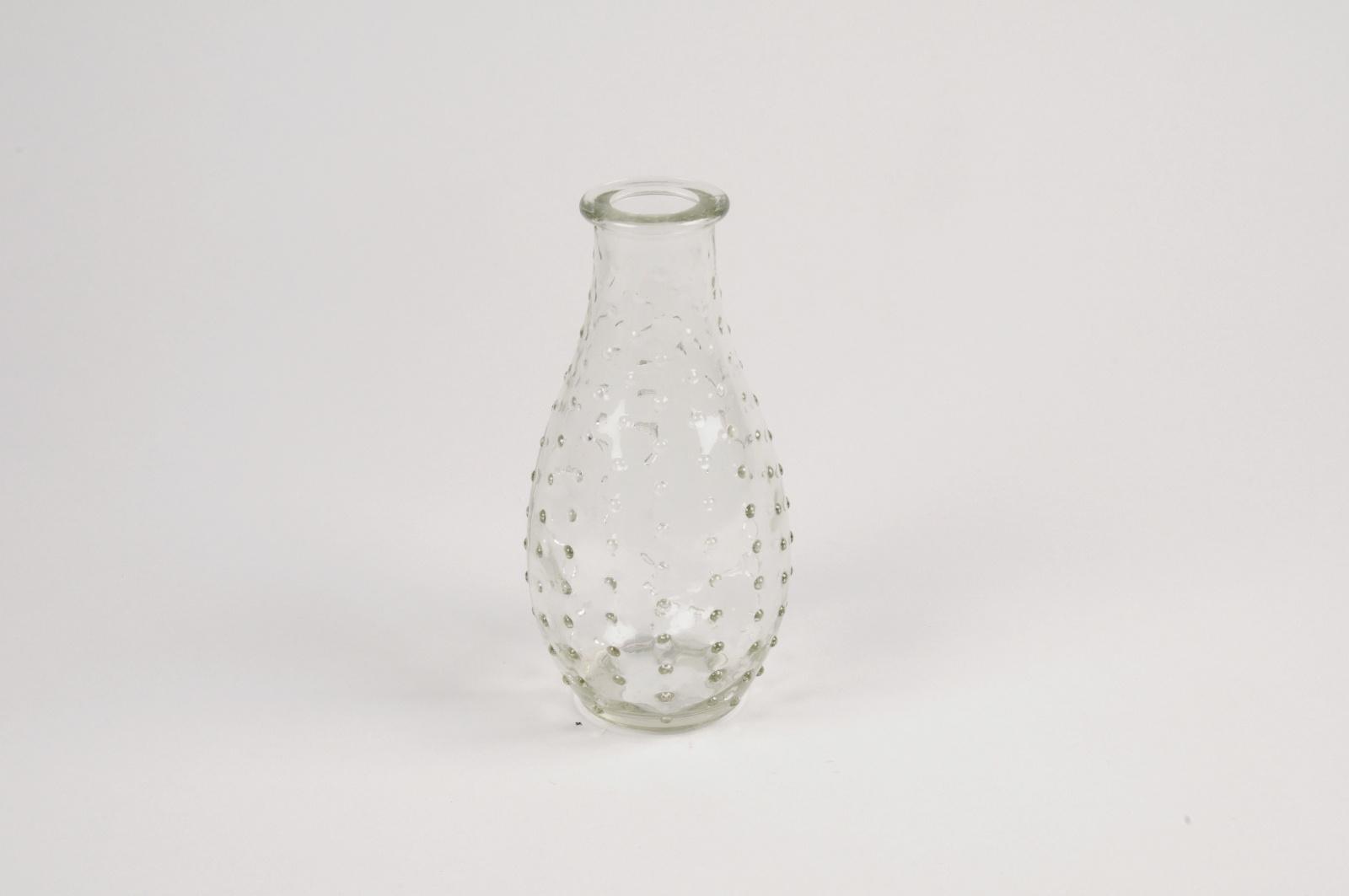 A074R4 Vase en verre obus D7cm H14cm