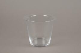 A074W3 Pot en verre évasé D14.5cm H13cm