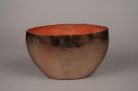 A075BV Copper metal vase 36x14cm H24cm