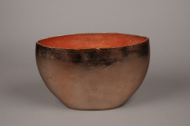 A075BV Vase en métal cuivre 36x14cm H24cm