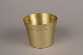 A075E6 Gold alu planter D14.5cm H11.5cm