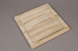 A075HX Wooden tray 24 x 24cm H1.6cm