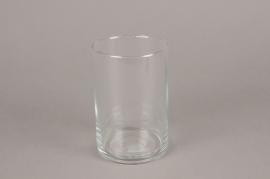 A075IH Vase en verre cylindre D10cm H15cm