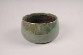 A075LE Green ceramic bowl D21cm H12cm