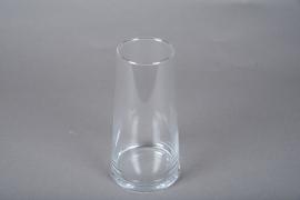 A075W3 Glass vase D10.5cm H20.5cm