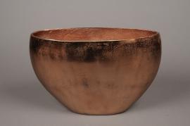 A076BV Vase en métal cuivre 40x16cm H26.5cm