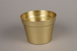 A076E6 Cache-pot en alu or D17cm H12.5cm