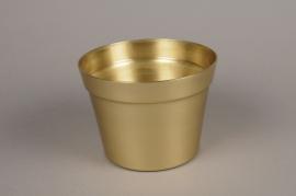 A076E6 Gold alu planter D17cm H12.5cm