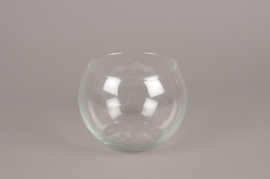 A076IH Vase en verre boule D16cm H12cm