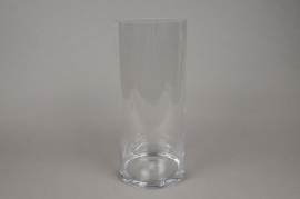 A076PQ Vase verre cylindre D15cm H35cm