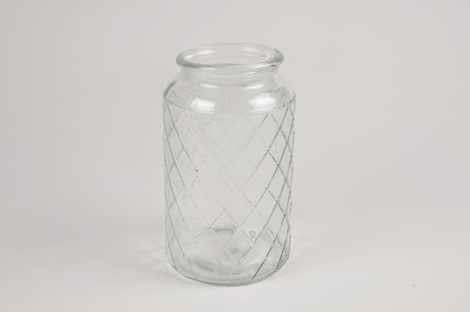 A076R4 Vase en verre D10.5cm H18cm