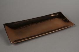 A076YX Plateau en céramique cuivre 14x38cm