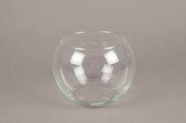 A077IH Glass bowl vase D19cm H14cm