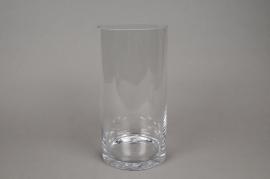 A077PQ Cylinder glass vase D15cm H25cm
