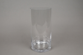 A077PQ Vase verre cylindre D15cm H25cm