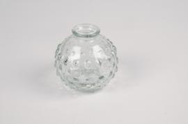 A077R4 Vase en verre boule D8cm H8cm