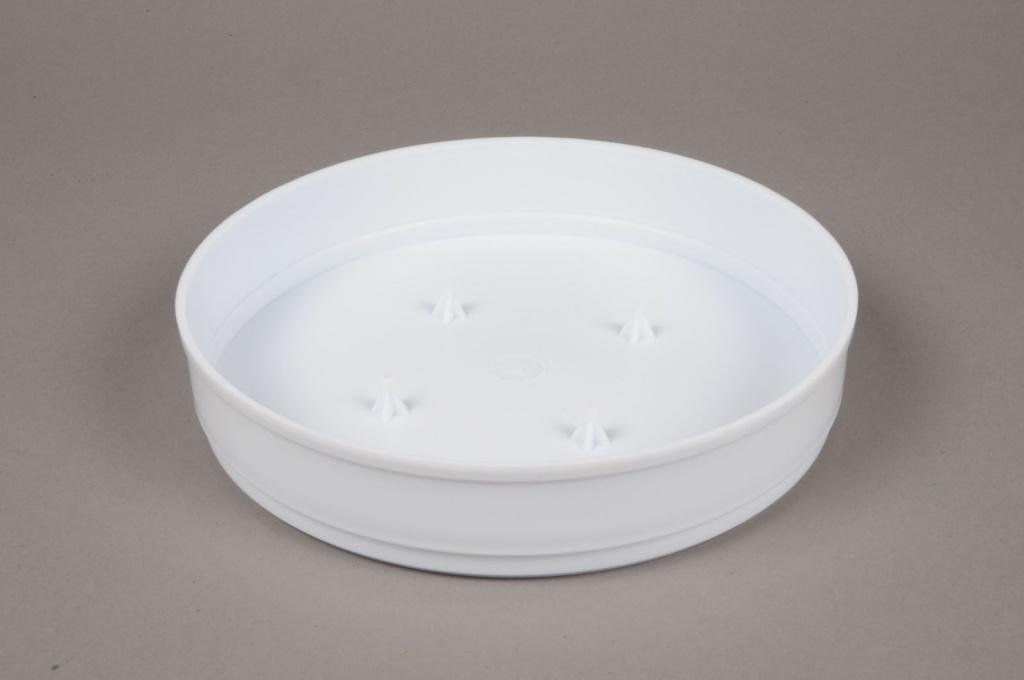 A077T7 Bag of 11 white plastic bowls D20 H4cm
