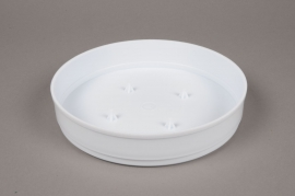 A077T7 Bag of 11 white plastic bowls D20 H4cm