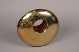A078BV Gold metal vase H28cm
