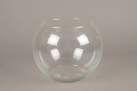A078IH Glass bowl vase D25cm H19cm