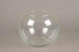 A078IH Vase en verre boule D25cm H19cm