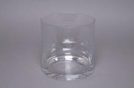 A078PQ Glass cylinder vase D15cm H15cm