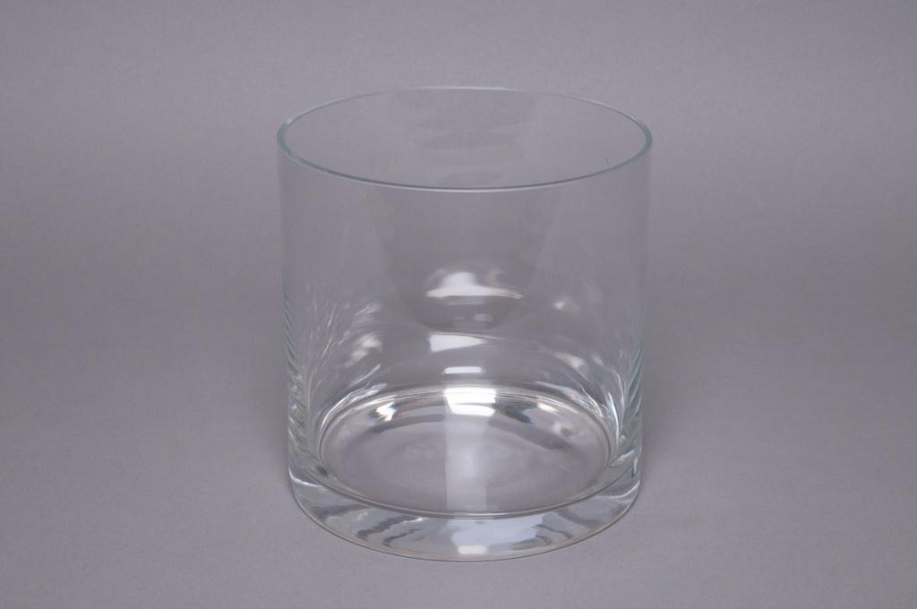 A078PQ Vase en verre cylindre D15cm H15cm