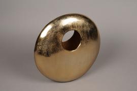 A079BV Gold metal vase H35cm